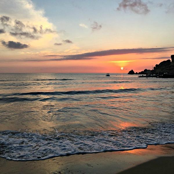Golden Bay Malta sunset