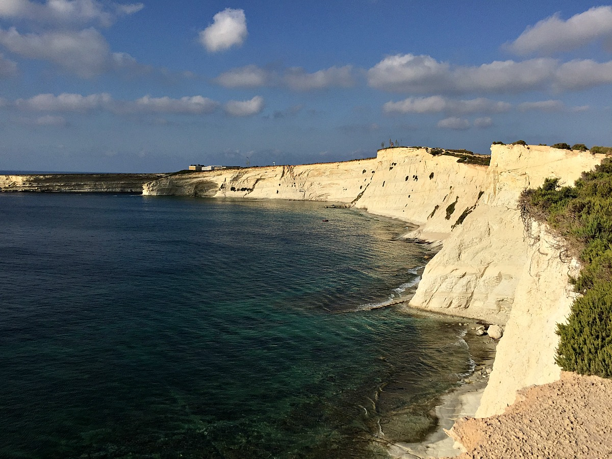 marsaskala bay cliffs