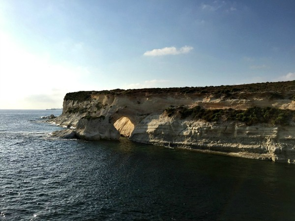 marsaskala bay cliffs window