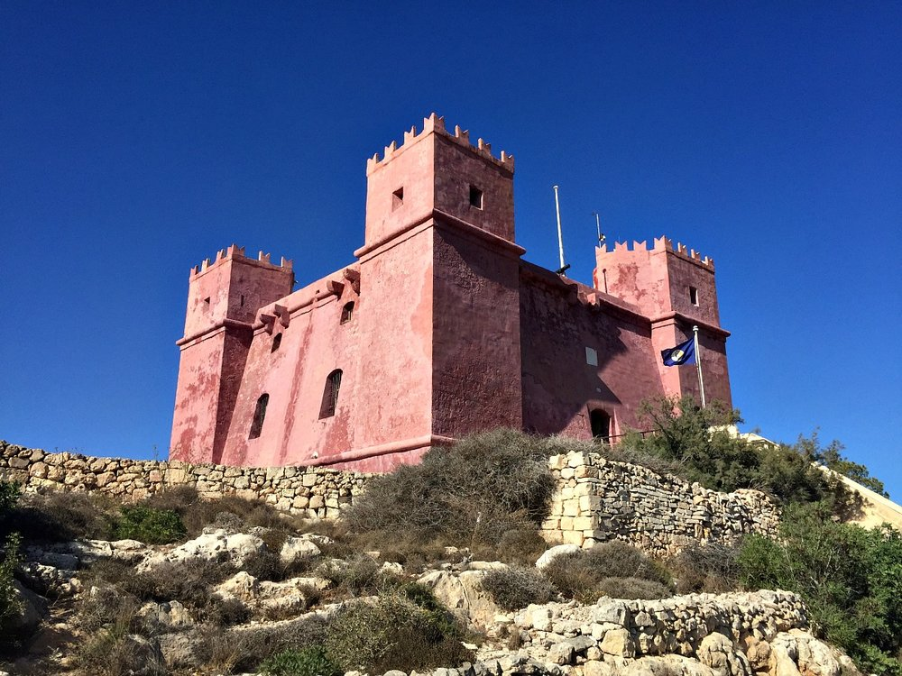 red tower in mellieha malta