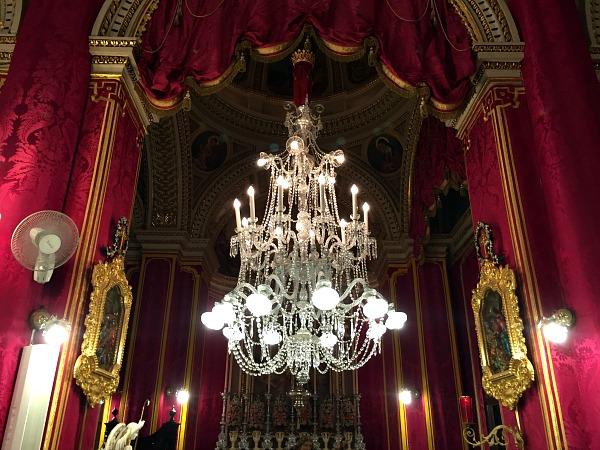 church chandelier qala feast