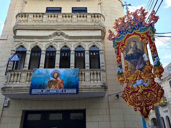 malta feast balcony traditional decorations