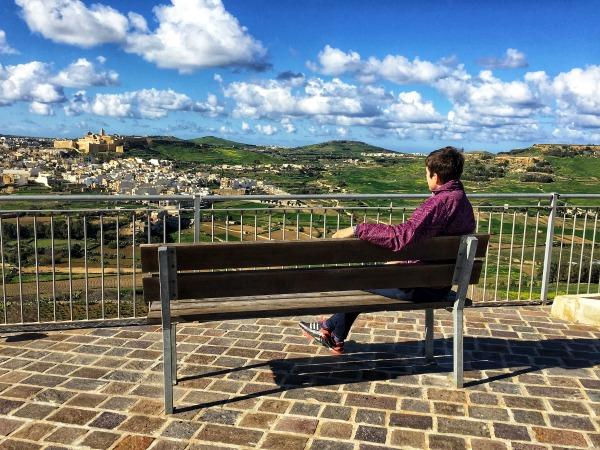 best bench view in gozo