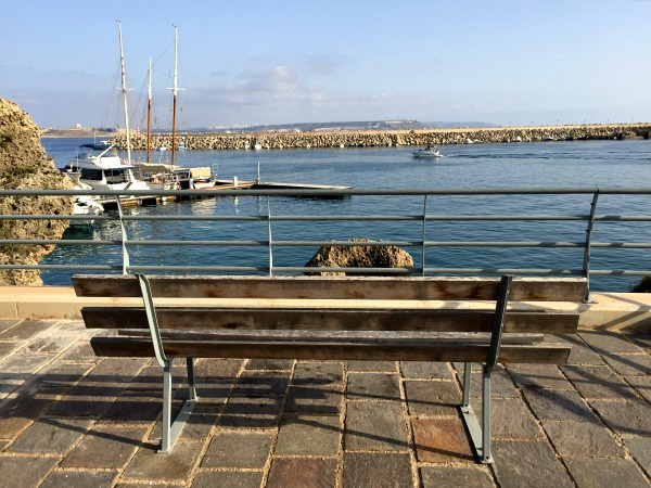 mgarr harbour bench view