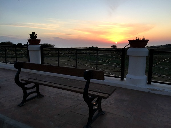 Gharb sunset bench view