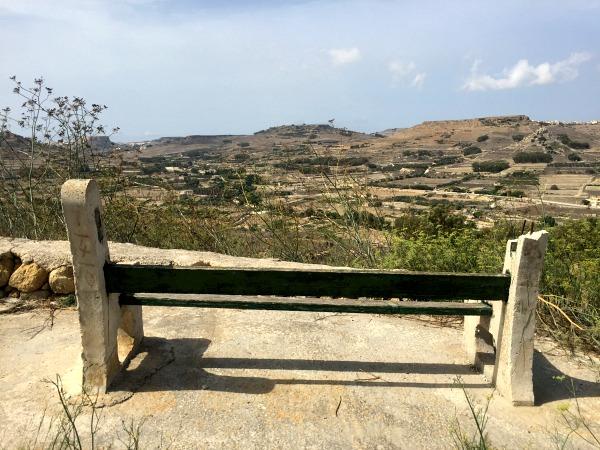 marsalforn hill bench