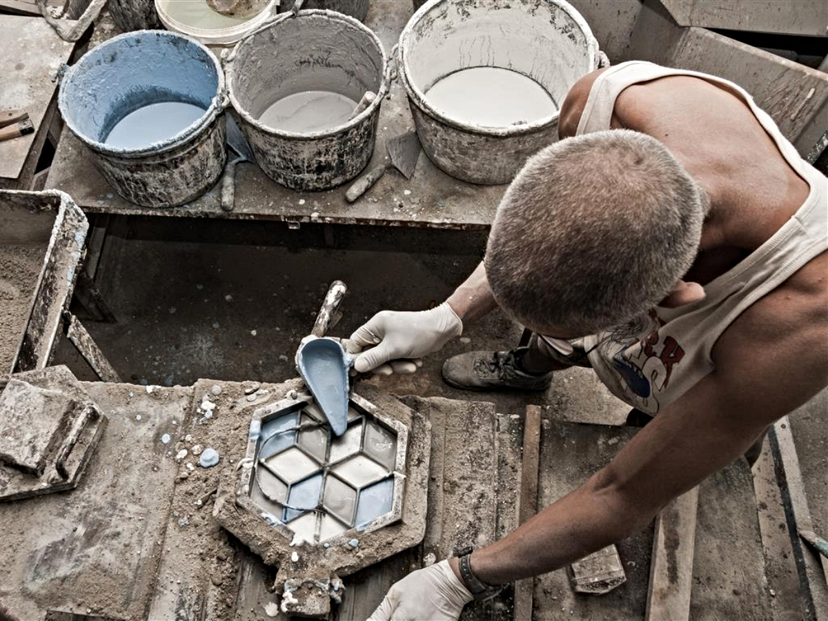 maltese traditional tiles making