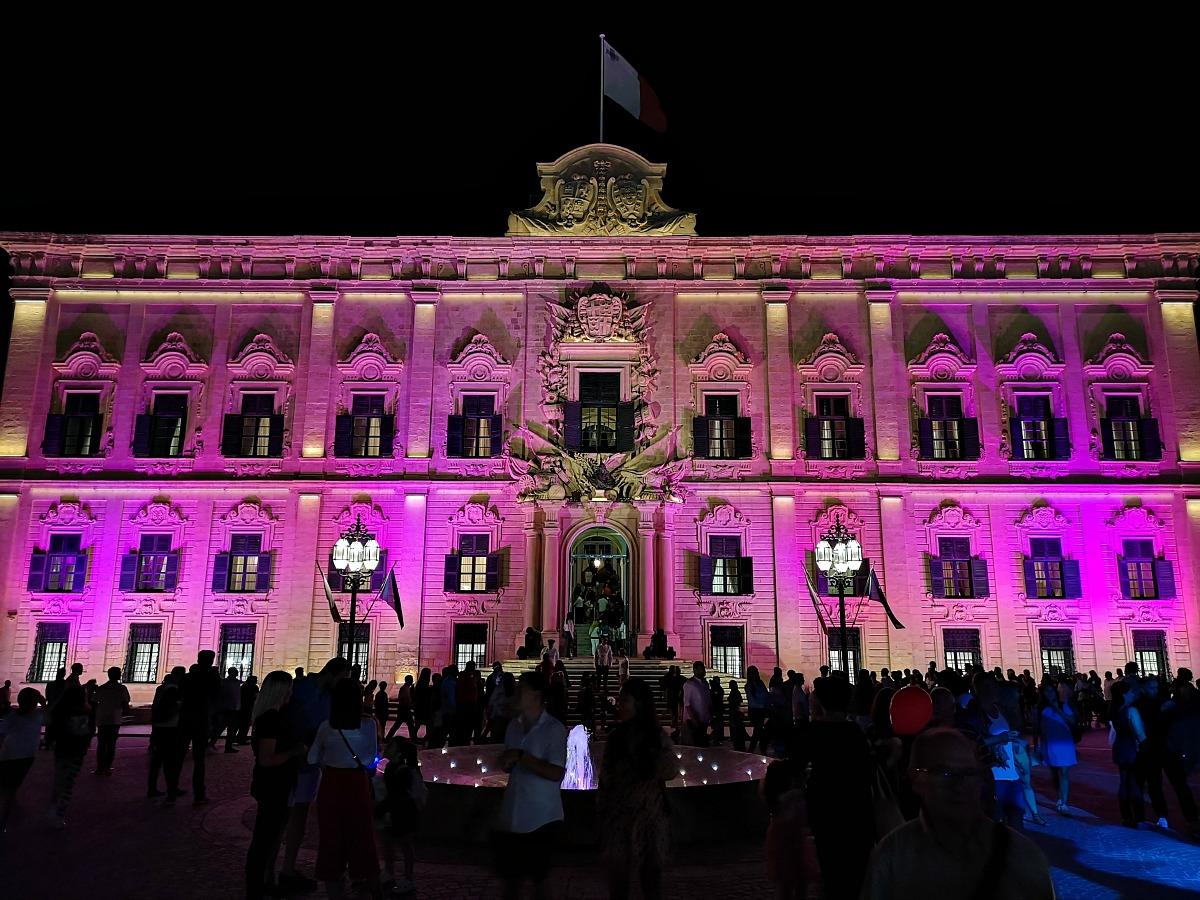 Auberge de Castille Valletta Notte Bianca 2019