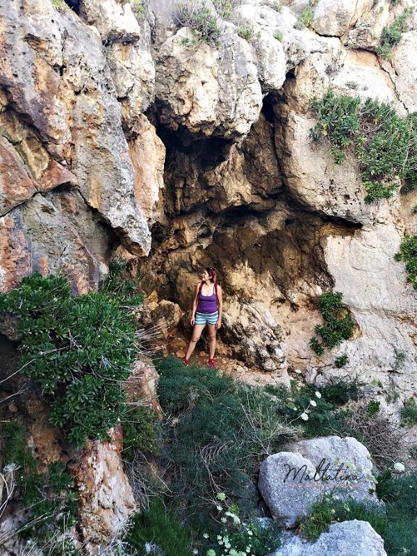 wied babu cave exploring malta