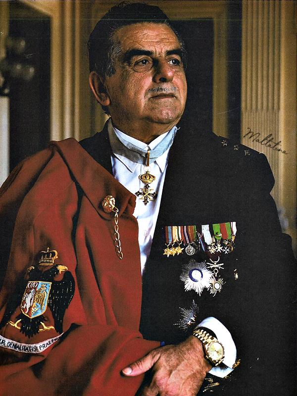 Marquis Joseph John Scicluna in full military attire.