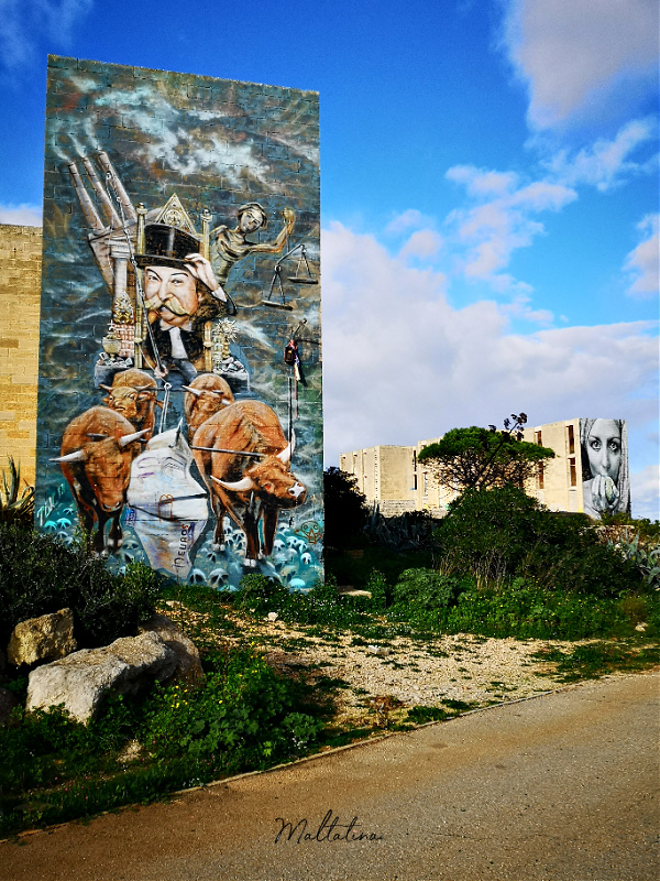 white rocks complex malta mural